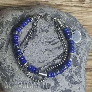 biżuteria-na-prezent bransoletki bransoletka ze srebra z lapisem