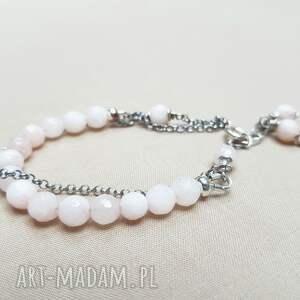 oksydowane bransoletka ze srebra i różowego