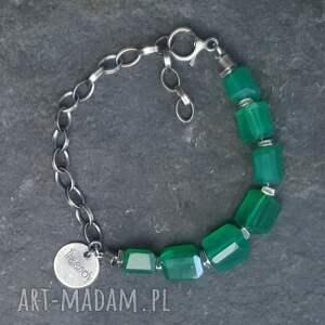 oryginalne bransoletki onyks-zielony bransoletka ze srebra i zielonego