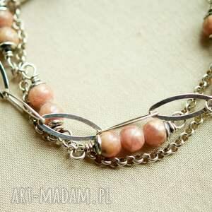 pastelowa bransoletka ze srebra z