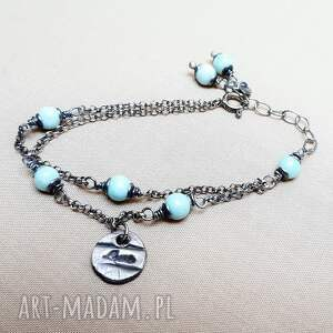 Tilia Pracownia Bransoletka ze srebra i larimaru - srebro