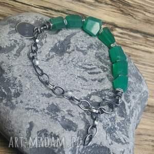srebro-oksydowane bransoletki bransoletka ze srebra i zielonego