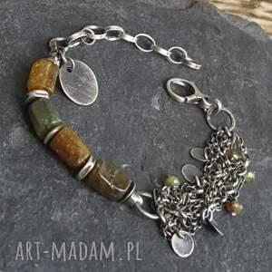 atrakcyjne bransoletki bransoletka-srebro bransoletka ze srebra i granatu