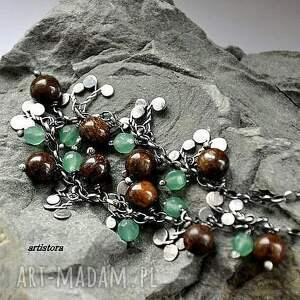 eleganckie bransoletki bronzyt i awenturyn