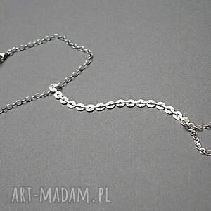 unikatowe bransoletki srebro cekinowa silver - bransoletka