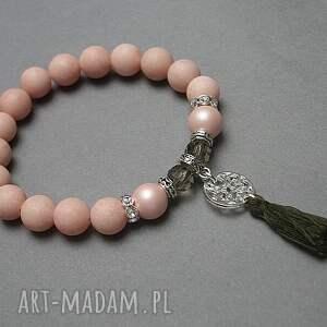 brązowe perły chwościk peach /22 -05