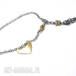 srebrne bransoletki srebro chwościk - serce vol. 3