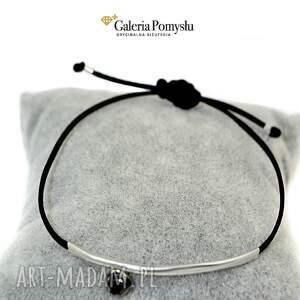 czarne bransoletki czarna cyrkonia