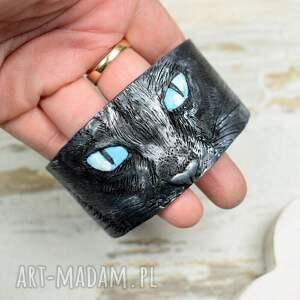 oryginalne bransoletki czarny-kot czarny kot ręcznie robiona