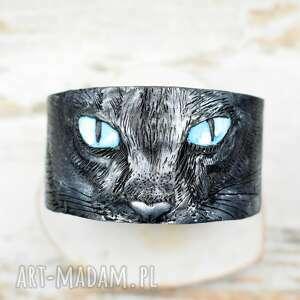 oryginalne bransoletki bransoletka-kot czarny kot ręcznie robiona