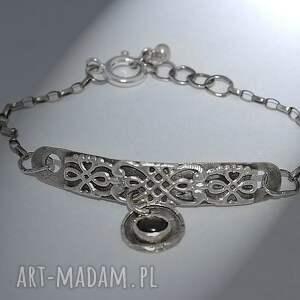 srebrna bransoletki czarny szafir