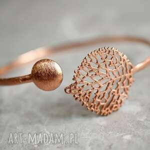 srebrne bransoletki pozłacana czarująca, regulowana bransoletka