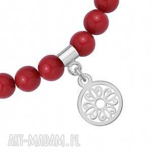 unikatowe bransoletki bransoletka czerwona z pereł