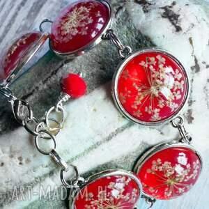 bransoletki oryginalna czerwona bransoletka z prawdziwymi