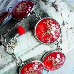 eleganckie bransoletki oryginalna czerwona bransoletka z prawdziwymi
