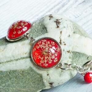 czerwone bransoletki suszone czerwona bransoletka z prawdziwymi