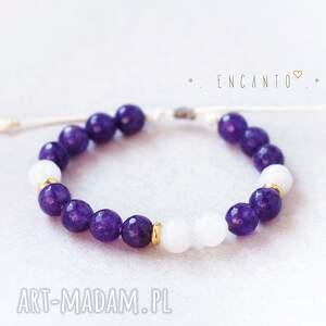 eleganckie bransoletki kamienie deep violet