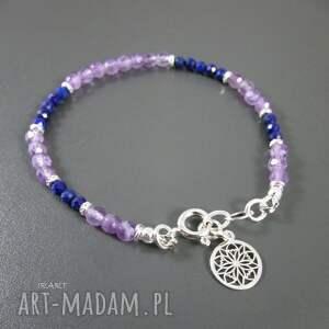 frapujące bransoletki ametyst delikatna z ametystu i lapis lazuli