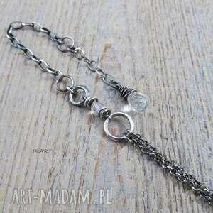 eleganckie srebro delikatna z kryształem górskim