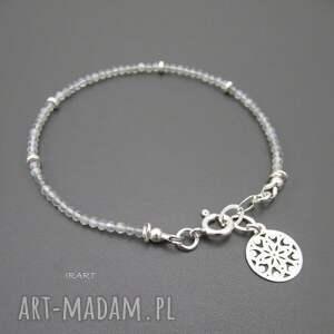 bransoletki srebro delikatna z labradorytu