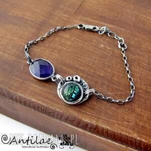 bransoletka bransoletki fioletowe diso - szkło dichroiczne, ametyst
