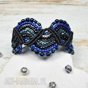 niebieskie elegancka biżuteria bransoletka z koralików