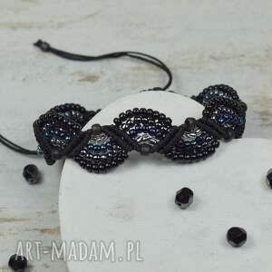 czarne elegancka bransoletka w odcieniach