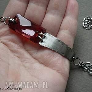 czerwone bransoletki srebro fire