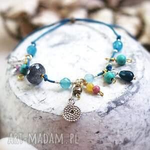 niebieskie bransoletki naturalne frutti di mare