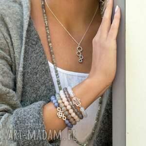 srebrne bransoletki ręka gentle glow - fatima