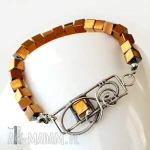srebrne bransoletki antyczna golden shadow - bransoleta ze