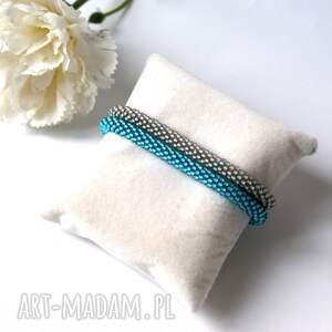 Pracownia Lawre turkusowe beading gray&blue - zestaw koralikowych