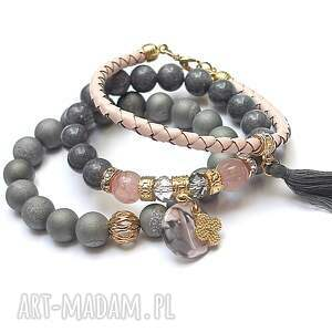 unikalne agaty grey and antique pink vol. 20 /10
