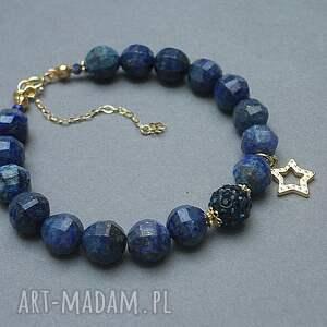 niebieskie srebro pozłacane gwiazdka z nieba - bransoletka
