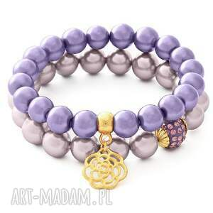 bransoletki heather pearl with crystal bead.