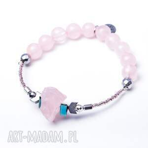 różowe bransoletki dwustronna whw high - crystal heart