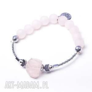 różowe bransoletki dwustronna whw high - crystal heart ii
