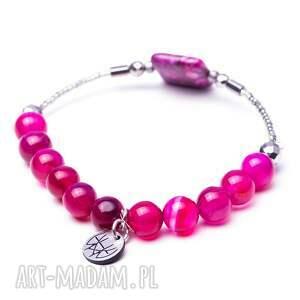 różowe bransoletki kamienna whw high - neon colors