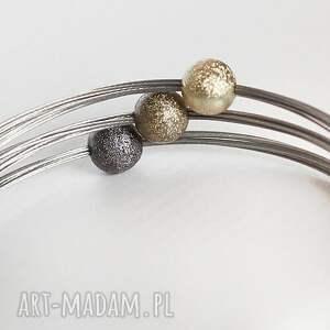 wyjątkowe industrial elegancka bransoleta na magnetyczne zapięcie