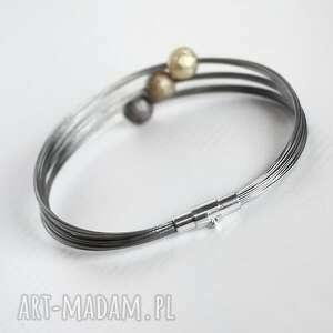 srebrne bransoletki minimalizm industrial gold