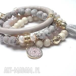 bransoletki jaspisy ivory and light pink vol. 23 /10