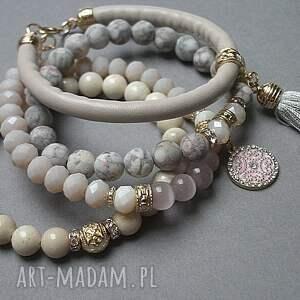 różowe bransoletki marmur ivory and light pink vol. 23 /10