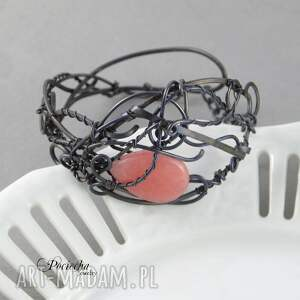 japan - bransoletka z jadeitem - róż