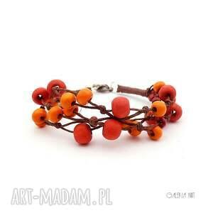 jesień jarzębina jesienna bransoletka