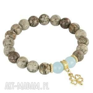 jaspis bransoletki niebieskie jasmine 4 - blue, beige & smoky