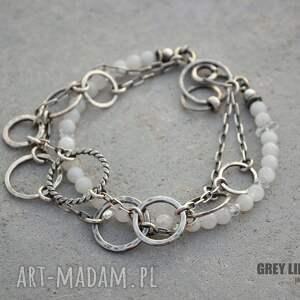eleganckie bransoletki srebro kamień księżycowy z diamentem