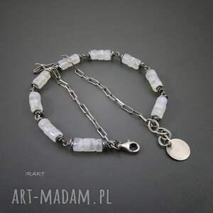 księżycowy bransoletki kamień z łańcuszkiem