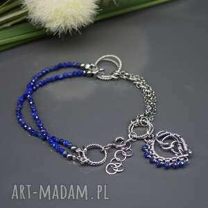 niebieskie bransoletka kobaltowy lapis lazuli