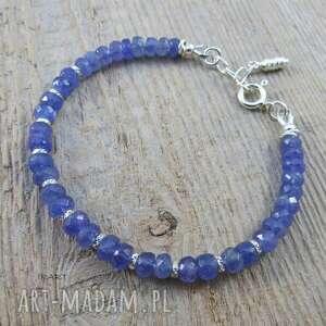 niebieskie tanzanit kobieca bransoletka z tanzanitu