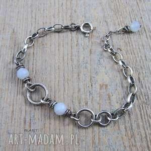 srebro kobieca, subtelna z akwamarynem -